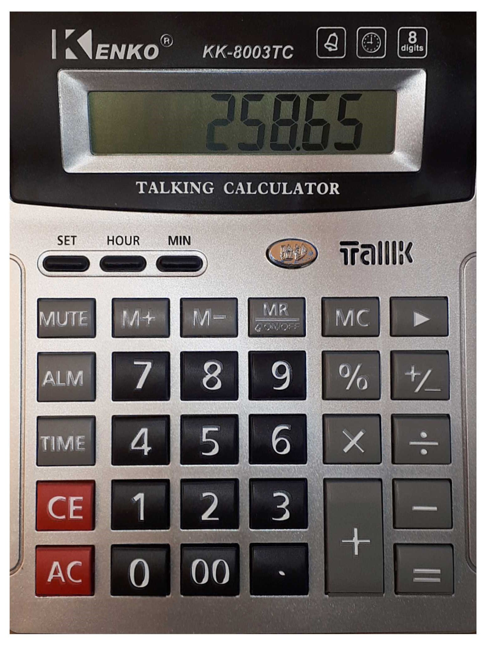 Calculatrice de table/réveil, italienne